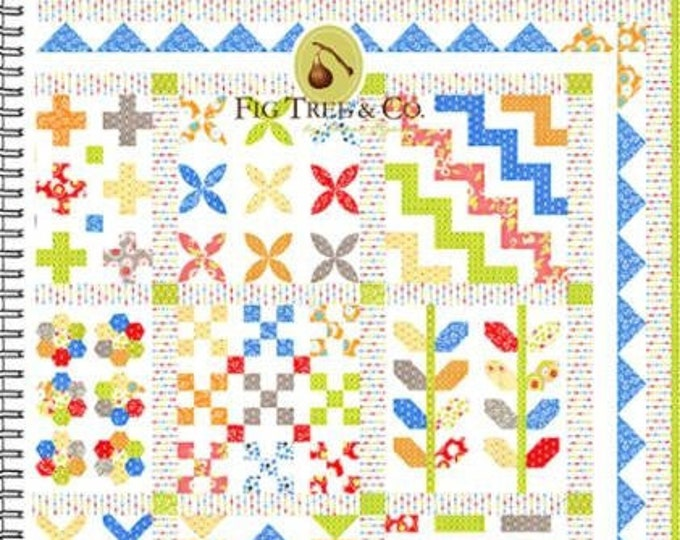 Stitchery Sampler Quilt Pattern by Fig Tree & Co.