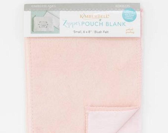 Zipper Pouch Blank (Small) - Blush Felt by Kimberbell