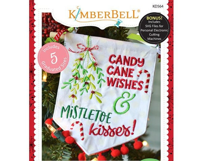 Christmas Wishes Pennants & Banners Machine Embroidery CD by Kimberbell