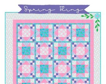 Spring Fling Quilt Pattern by Deb Grogan