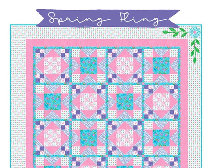 Spring Fling Quilt Pattern by Deb Grogan