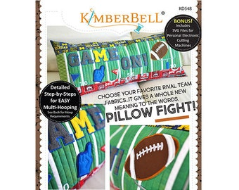 Game On Bench Pillow Machine Embroidery CD by Kimberbell