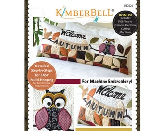 Welcome Autumn! Bench Pillow Machine Embroidery CD by Kimberbell