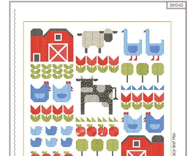 And On The Farm Quilt Pattern by Stacy Iest Hsu
