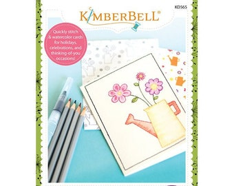 Embroidered Cards: Watercolor Wishes Machine Embroidery CD by Kimberbell