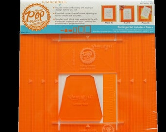 Orange Pop Rulers Rectangle Set by Kimberbell