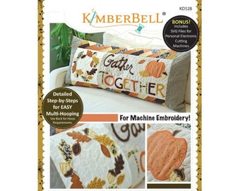 Gather Together Bench Pillow Machine Embroidery CD by Kimberbell