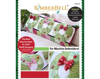 Deck The Halls! Bench Pillow Machine Embroidery CD by Kimberbell