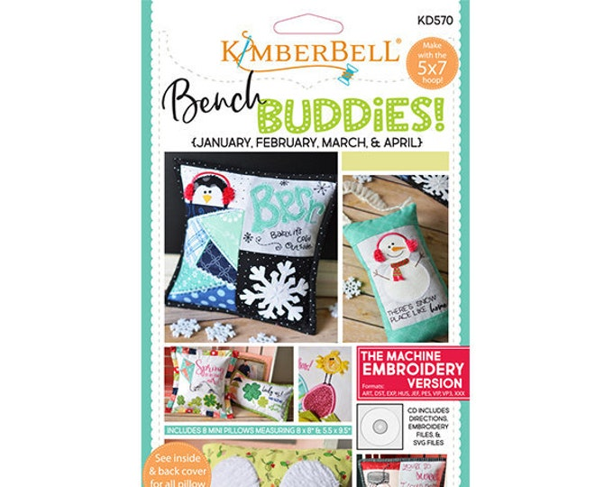 Bench Buddies (January - April) Machine Embroidery CD by Kimberbell