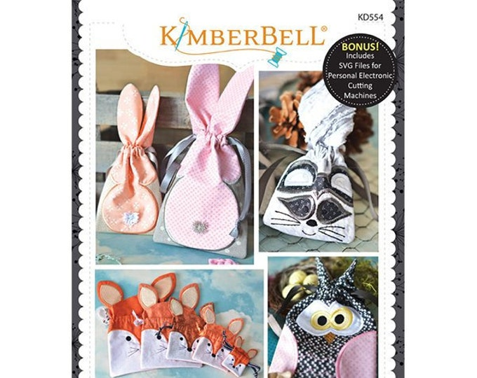 It's A Cinch Gift Bags Vol. 4 Woodland Animals Machine Embroidery CD by Kimberbell