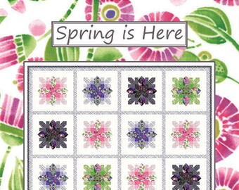 Spring Is Here Quilt Pattern by Coach House Deisgns