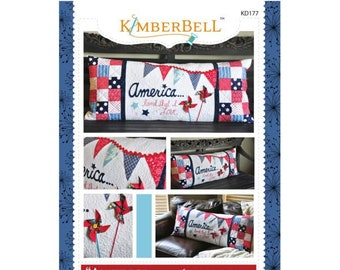America Land That I Love Bench Pillow Sewing Pattern by Kimberbell