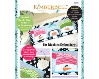 Whimsy Winter Bench Pillow Machine Embroidery CD by Kimberbell