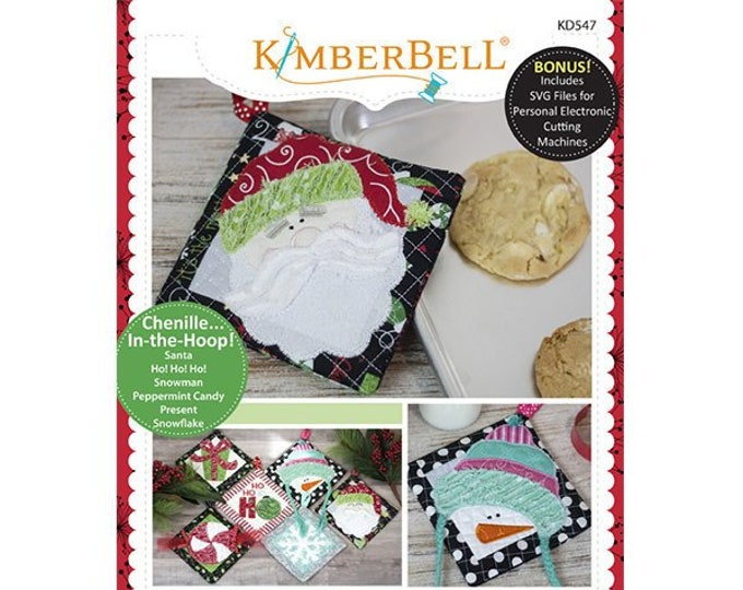That's Sew Chenille: Christmas Hot Pads Machine Embroidery CD by Kimberbell