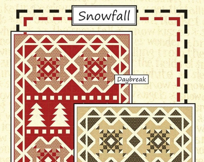 Snowfall Quilt Pattern by Coach House Designs