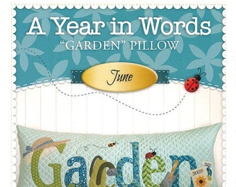 "A Year In Words ""Garden"" Bench Pillow Pattern by Shabby Fabrics"