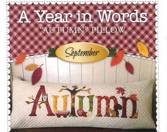 "A Year In Words ""Autumn"" Bench Pillow Pattern by Shabby Fabrics"