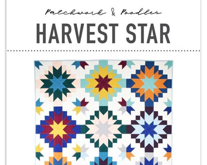 Harvest Star Quilt Pattern from Patchwork & Poodles