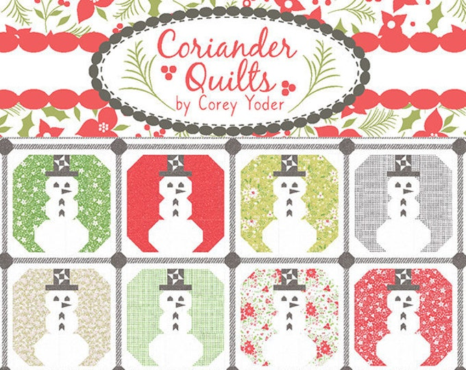 Snowy Quilt Pattern from Coriander Quilts by Corey Yoder