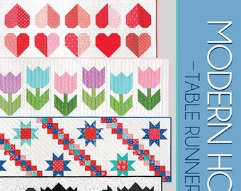 Modern Holiday Table Runners Quilt Booklet by Cluck Cluck Sew