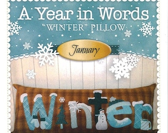 "A Year In Words ""Winter"" Bench Pillow Pattern by Shabby Fabrics"