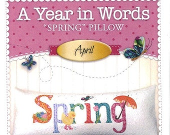 "A Year In Words ""Spring"" Bench Pillow Pattern by Shabby Fabrics"