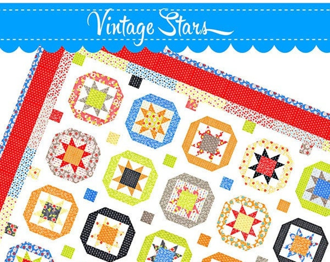 Vintage Stars Quilt Pattern by Fig Tree & Co