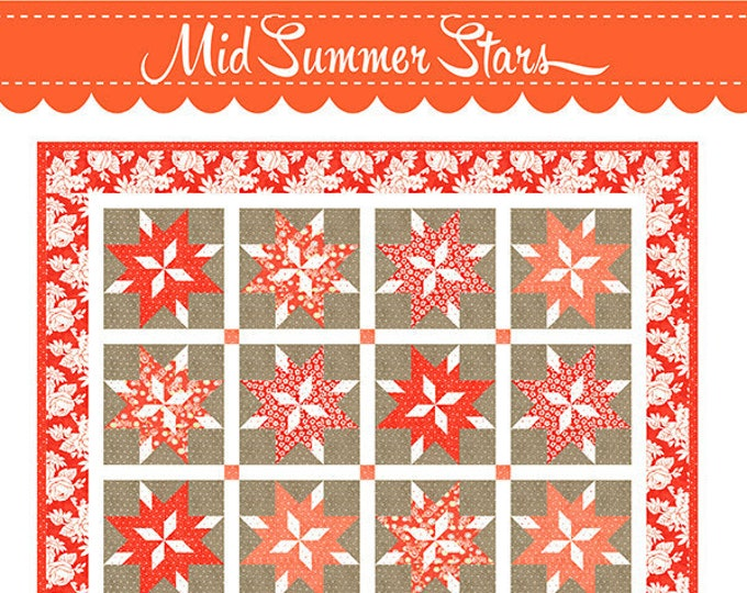 Midsummer Stars Quilt Pattern by Fig Tree & Co
