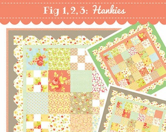 Fig 1, 2, 3: Hankies Quilt Pattern by Fig Tree and Co.