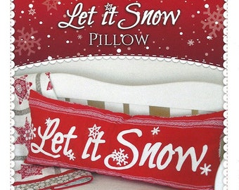 Let It Snow Bench Pillow Pattern by Shabby Fabrics