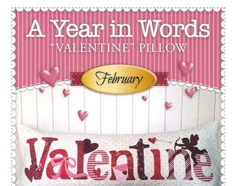 "A Year In Words ""Valentine"" Bench Pillow Pattern by Shabby Fabrics"