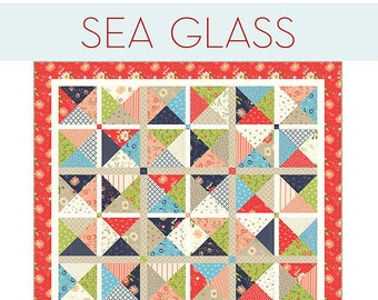 Sea Glass Quilt Pattern by Sherri McConnell for A Quilting Life Designs