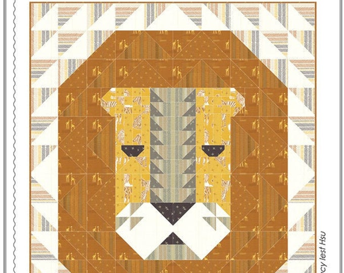 Lion's Head Quilt Pattern by Stacy Iest Hsu
