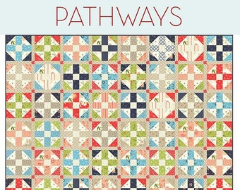 Pathways Quilt Pattern by Sherri McConnell for A Quilting Life Designs
