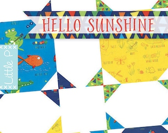 Hello Sunshine Quilt Pattern by Sarah Price for It's Sew Emma