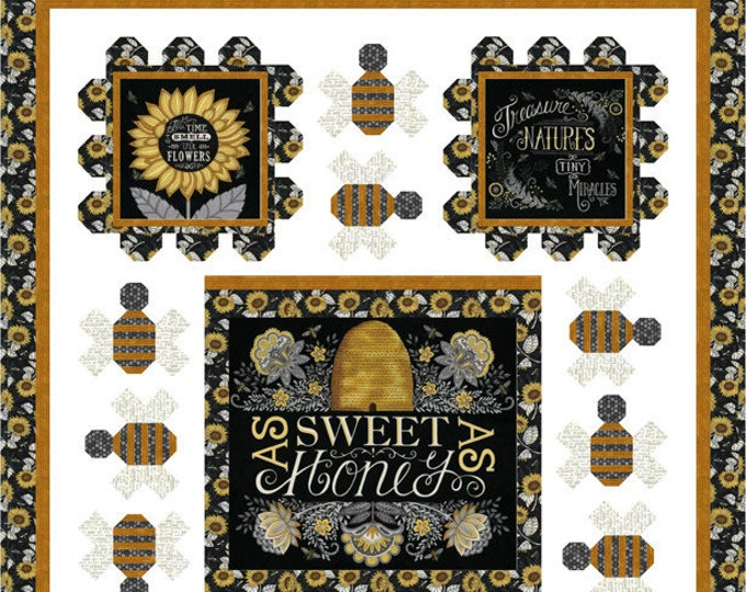 Bee Grateful Quilt Kit by Deb Strain for Moda