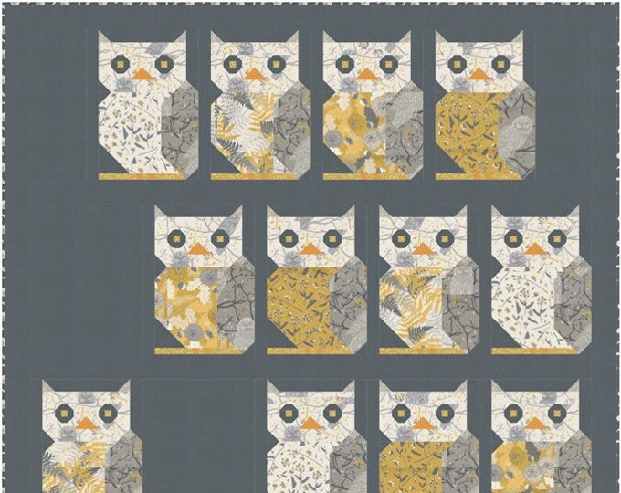 Dark Owls See You Quilt Kit by Sweetfire Road for Moda