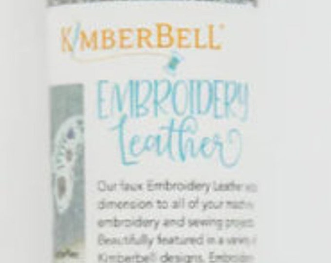 Kimberbell Embroidery Leather - White