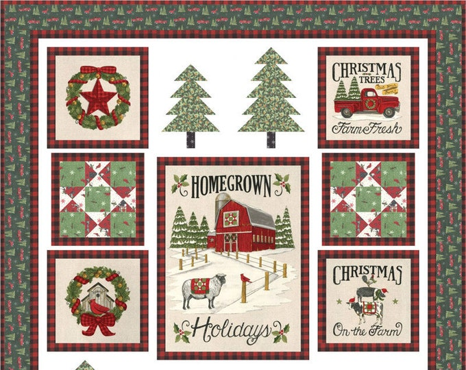 Homegrown Holidays Quilt Kit by Deb Strain for Moda