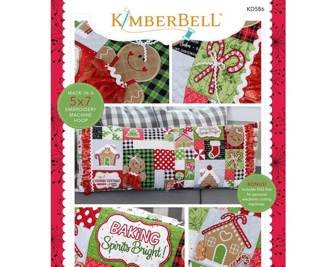 Ginger's Kitchen Bench Pillow Machine Embroidery CD by Kimberbell