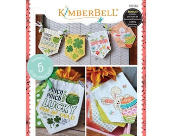 Pennants & Banners:  Hello Spring! Machine Embroidery CD by Kimberbell