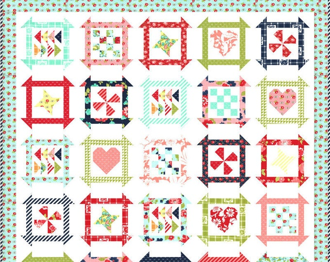 Summer Days Quilt Kit Featuring Shine On by Bonnie & Camille for Moda