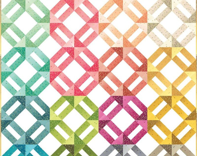 Ombre Confetti Metallic Quilt Kit by V and Co for Moda