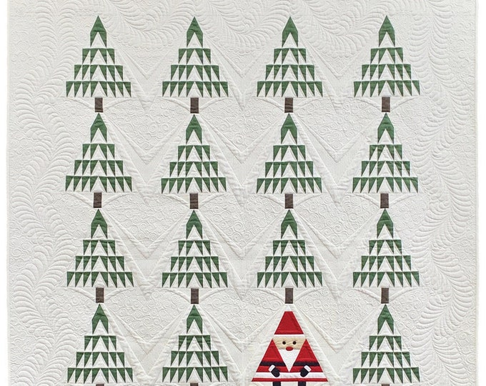 Santa In The Pines Quilt Kit by Moda