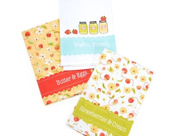 Chantilly Tea Towels Set of 3 by Fig Tree Quilts