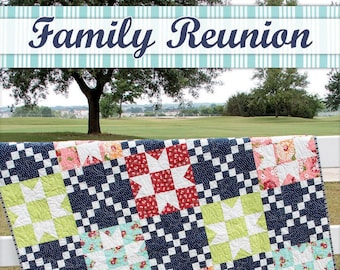 Family Reunion Quilt Pattern by It's Sew Emma