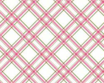 Kimberbell Basics Diagonal Plaid Pink and Green