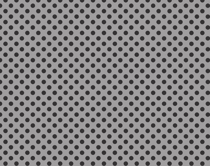 Small Dot Tone Black on Gray by Riley Blake Designs
