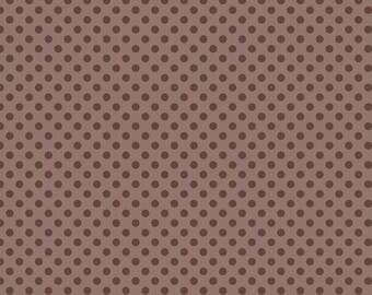 Small Dots Tone On Tone Brown by Riley Blake Designs
