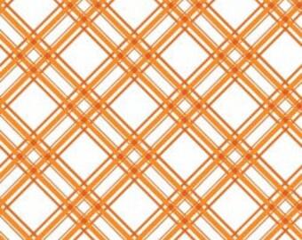 Kimberbell Basics Diagonal Plaid Orange